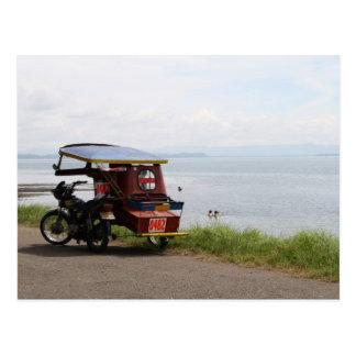 Cartão Postal Triciclo na baía de San Pedro