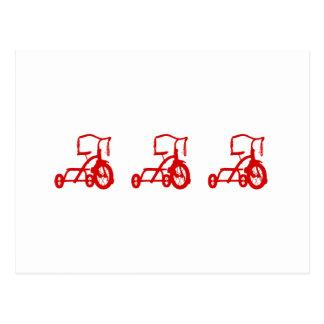 Cartão Postal triciclos