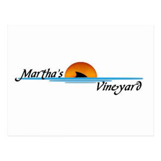 Cartão Postal Tubarão do vinhedo de Marthas