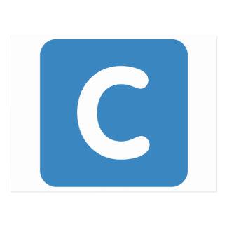 Cartão Postal Twitter do emoji da letra C