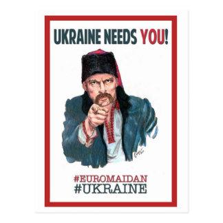 Cartão Postal Ucrânia precisa-o! - Apoio Euromaidan