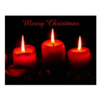 Cartão Postal Um advento vermelho Gaudete domingo de três velas