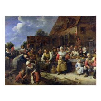 Cartão Postal Um banquete da vila