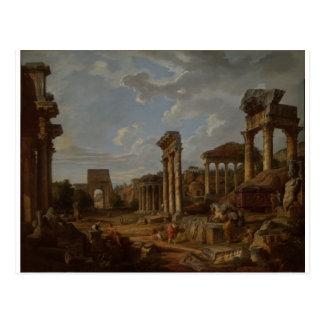Cartão Postal Um capricho do fórum romano por Giovanni Paolo