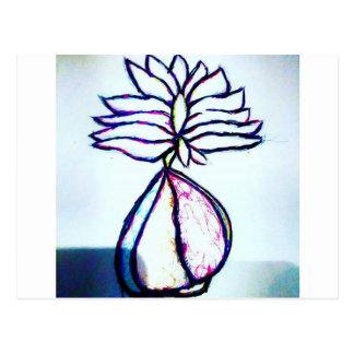 Cartão Postal Um coração polifónico de Lotus pela luminosidade