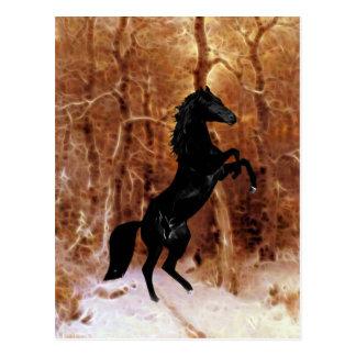 Cartão Postal Um frisão na neve do inverno