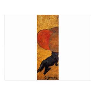 Cartão Postal Um gato pequeno por Paul Gauguin