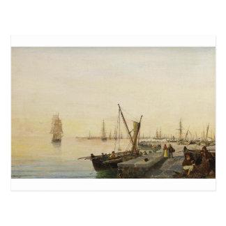Cartão Postal Um porto ocupado por Konstantinos Volanakis