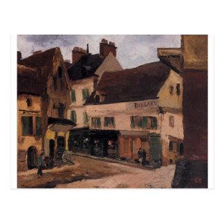 Cartão Postal Um quadrado em La Roche Guyon por Camille Pissarro