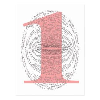 Cartão Postal Um - Versão cor-de-rosa