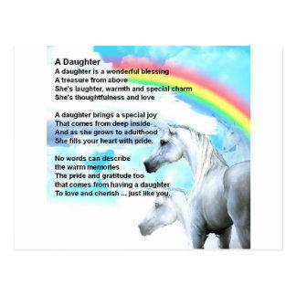Cartão Postal unicórnio - poema da filha