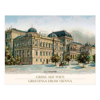 Cartão Postal University of Vienna - universidade Viena