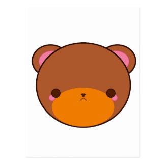 Cartão Postal Urso de Kawaii