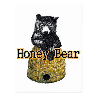 Cartão Postal urso de mel