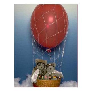 Cartão Postal Ursos Ballooning