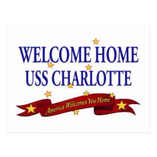 Cartão Postal USS Home bem-vindo Charlotte