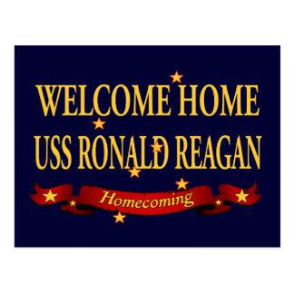 Cartão Postal USS Ronald Reagan Home bem-vindo