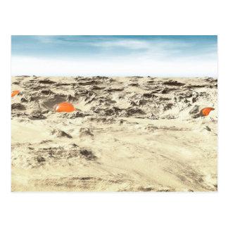 Cartão Postal Vagens estrangeiros no deserto