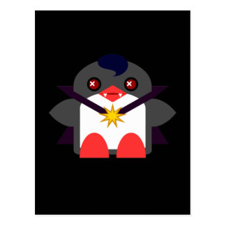 Cartão Postal Vampiro do pinguim de Kawaii