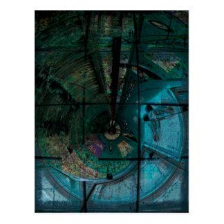 Cartão Postal Vapor espiral do topázio