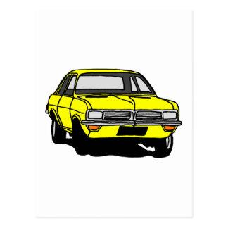 Cartão Postal Vauxhall amarelo Viva HC