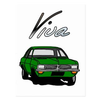 Cartão Postal Vauxhall verde Viva HC
