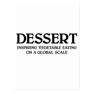 Cartão Postal Vegetais e sobremesa