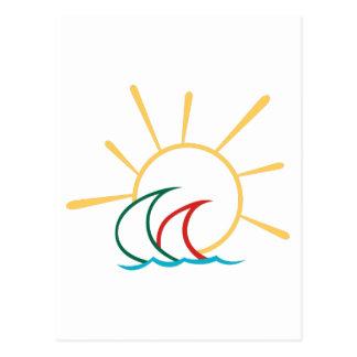 Cartão Postal Veleiros no Sun