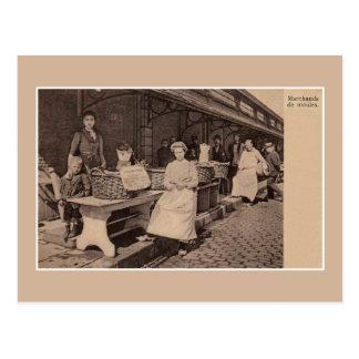 Cartão Postal Vendedores franceses dos mexilhões dos 1900s do