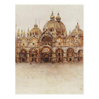 Cartão Postal Veneza. A basílica de marca de santo. por Vasily