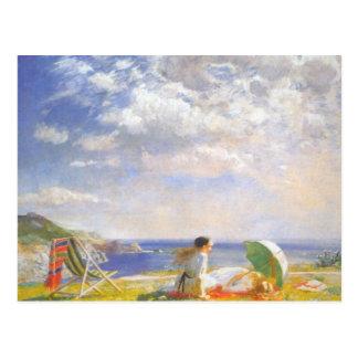 Cartão Postal Vento e Sun pela dama Laura Cavaleiro
