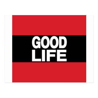 Cartão Postal Vermelho da boa vida por muito tempo