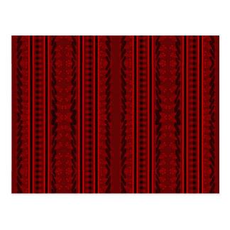 Cartão Postal Vermelho e preto