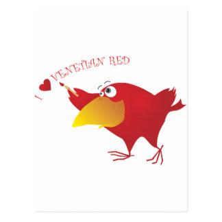 Cartão Postal Vermelho Venetian dos corações de AnimArArA