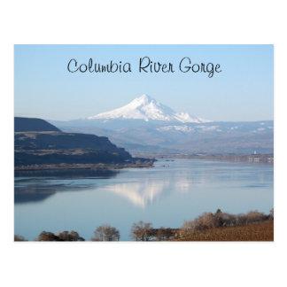 Cartão Postal Viagem cénico do desfiladeiro do Rio Columbia