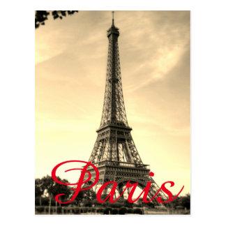 Cartão Postal Viagem da cidade do amor de Paris da torre Eiffel