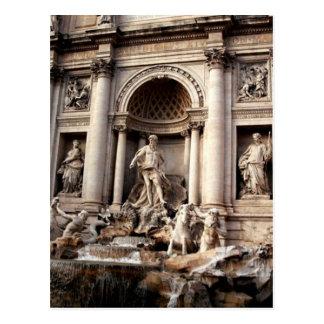 Cartão Postal Viagem de Roma Italia da fonte do Trevi