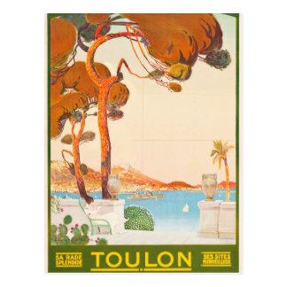 Cartão Postal Viagem de Toulon Cote d'Azur Provence Alpes do
