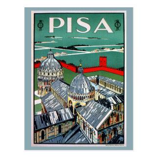 Cartão Postal Viagem italiano de Pisa do 1920 do vintage