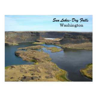 Cartão Postal Viagem Lago-Seco das quedas de Sun