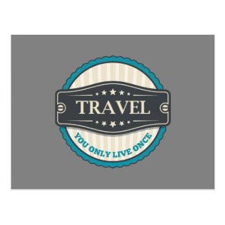 Cartão Postal Viagem: Você vive somente uma vez