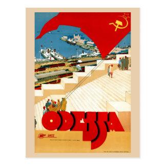 Cartão Postal Viagens vintage Odessa Ucrânia União Soviética