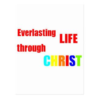 Cartão Postal Vida eterna com o CRISTO