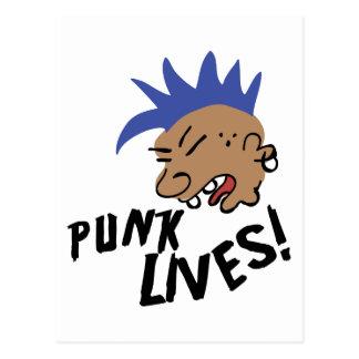 Cartão Postal Vidas do punk!