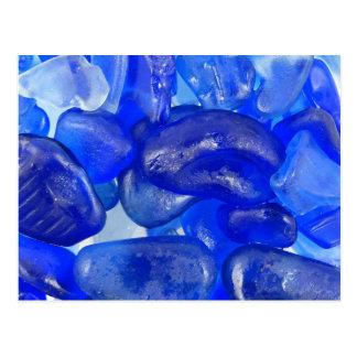 Cartão Postal Vidro do mar dos azuis cobaltos