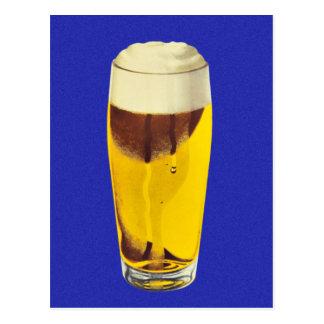 Cartão Postal Vidro retro do Bier da cerveja da cervejaria do