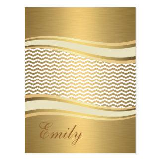 Cartão Postal Viga na moda luxuosa dourada