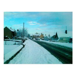 Cartão Postal Vila inglesa nevado