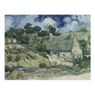 Cartão Postal Vincent van Gogh - casas de campo Thatched em