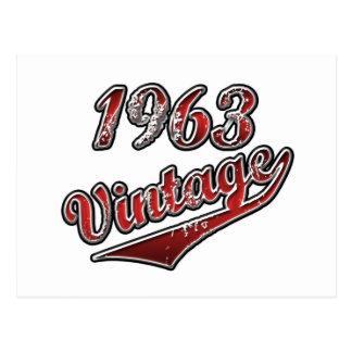Cartão Postal Vintage 1963